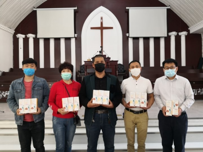 Recently local churches in Changchun, Jilin received infrared thermometers.
