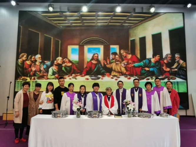 Shenyang Liaozhong Christian church held the first online communion service on May 17, 2020.