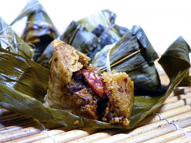 Zongzi, typical food for Dragon Boat Festival