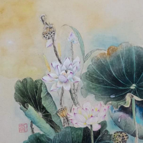 A lotus painting.