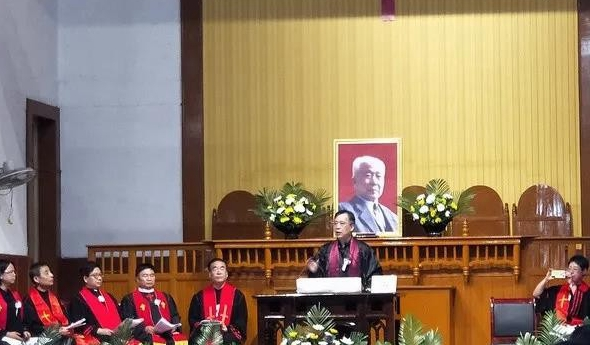 The memorial services of Pastor Zhang Guanru were held on August 7 and 8, 2020,in the Dongguan Church in Sanyuan County, China's western Shaanxi Province.