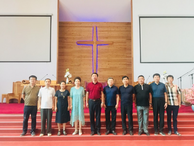 The research team of  the Jilin CC&TSPM visited the Qinghe Church in northeast Yanji city in August 2020.