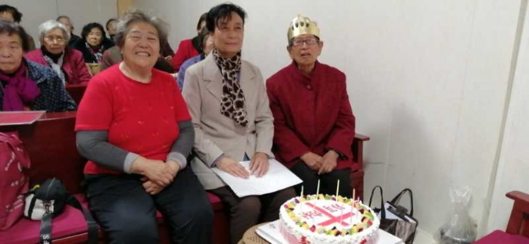 On October 30, 2020, the 90-year-old Li Chonghui  was baptized in the service celebrating her birthday held by the Elderly Evergreen Fellowship of the Yaodu District Church, Linfen, Shanxi Province.