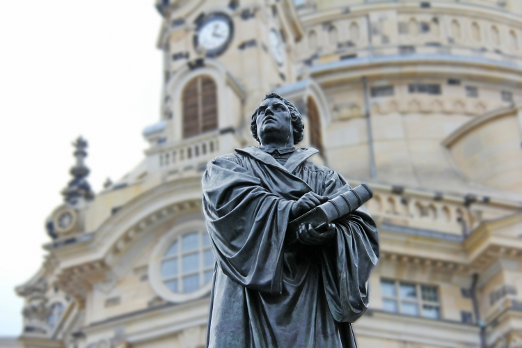 The statue of Martin Luther