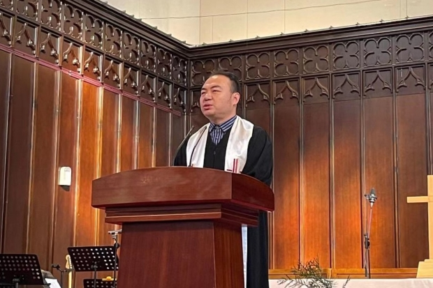 Rev. Wang Tianlu preached a sermon entitled