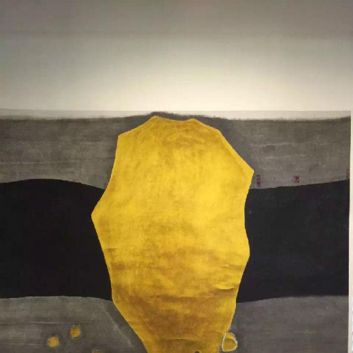 The God and Gold,  an ink wash painting on paper