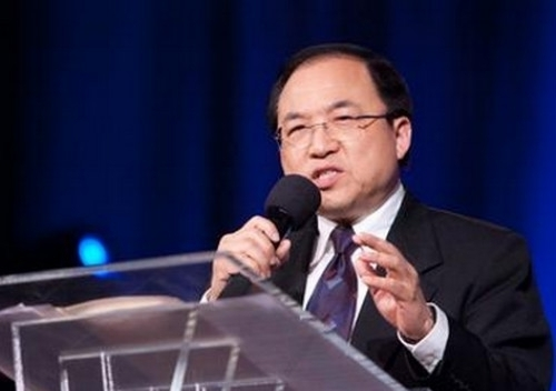 File photo of Pastor Liu Tong, senior pastor of River of Life Christian Church in Silicon Valley, the United States