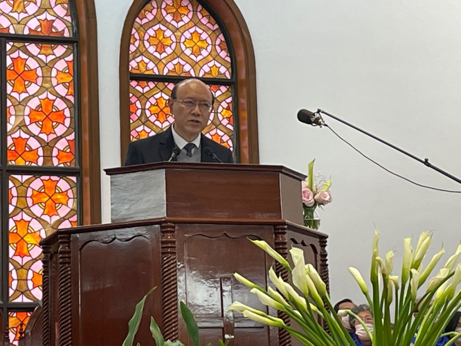 Elder Ou Enlin from Shanghai Grace Church shared on the topic of perfume and cross in a sermon on the afternoon of Good Friday, April 2, 2021.