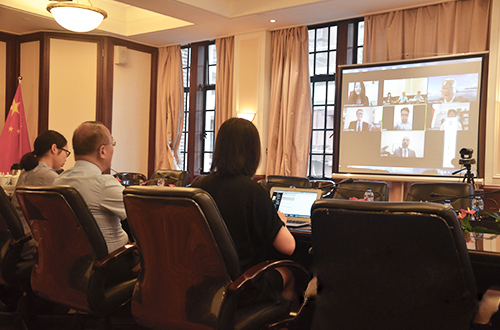 The Chinese Christian Council (CCC) held an online conference with the Luis Palau Association on June 17, 2021.