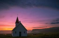 A church in the sunset.