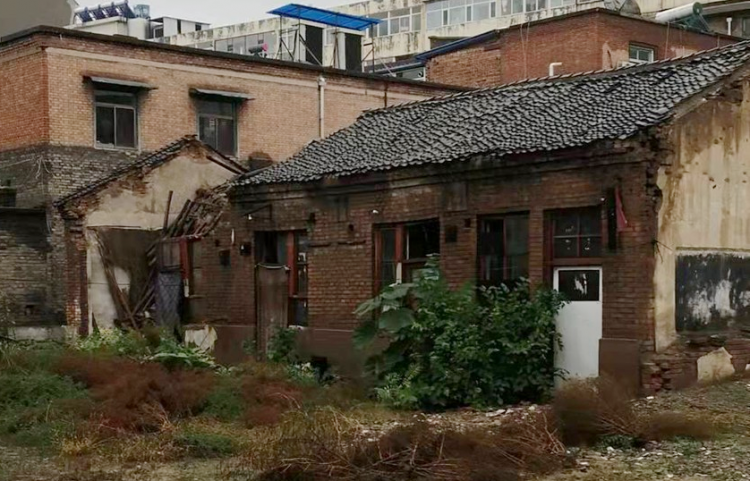 Dilapidated houses belonging to Jiexiu Church in Shanxi Province suffered damage in the recent rainfall in early October 2021.