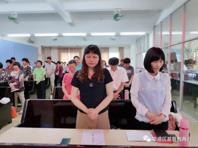 The summer Bible study for the pastoral staff, deacons, and volunteers of the church in Quan'gang District, Quanzhou, Fujian, was held in Meilin Church in May 2019.