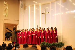 Sisters sang a song in the World Day of Prayer Service held by the Shanghai CCC&TSPM in Shanghai Gospel Church, Mar. 1, 2019.