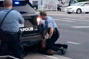 On May 25, 2020, George Floyd was handcuffed while a city police officeer knelt on his neck.
