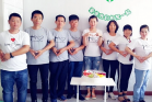 The members of a deaf fellowship led by Qu Ping(middle)